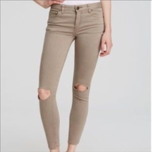 Distressed Denim Colored Jeans Free People 28 x 25